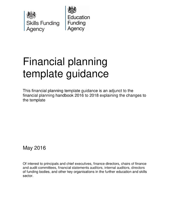 financial planning template guideline example