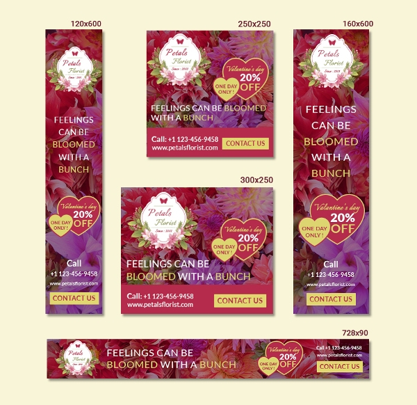 flower shop ad banner template1