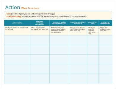 free action plan template example
