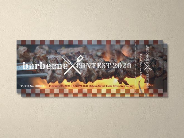 free bbq event ticket template1