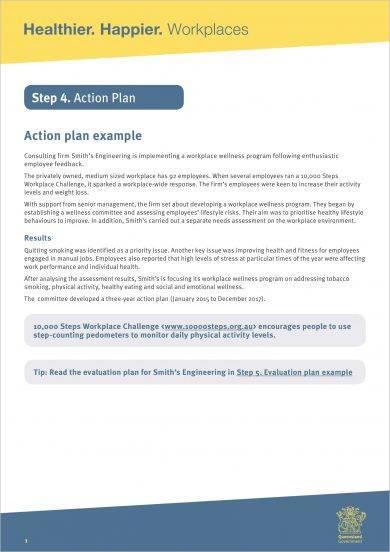 free basic action plan example
