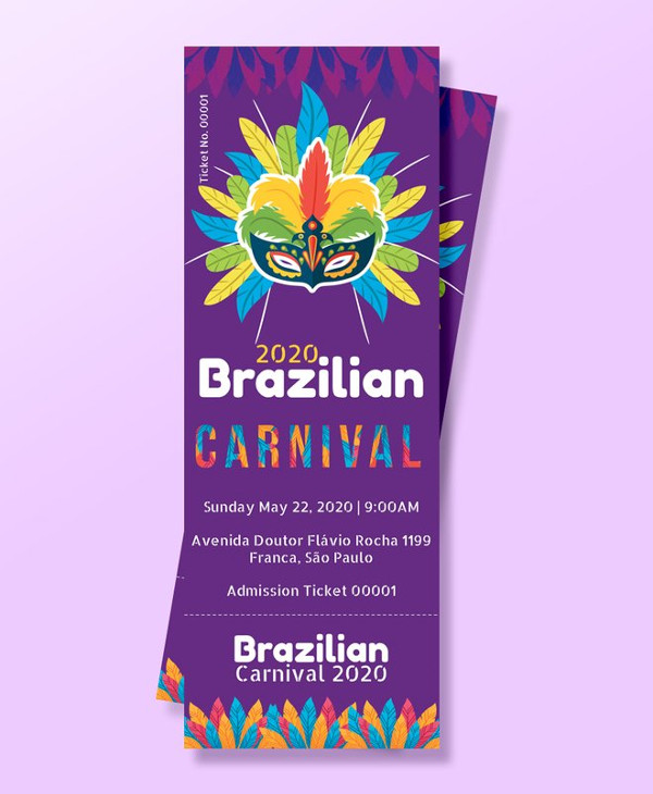 free carnival admission ticket template