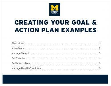 free goal and action plan example
