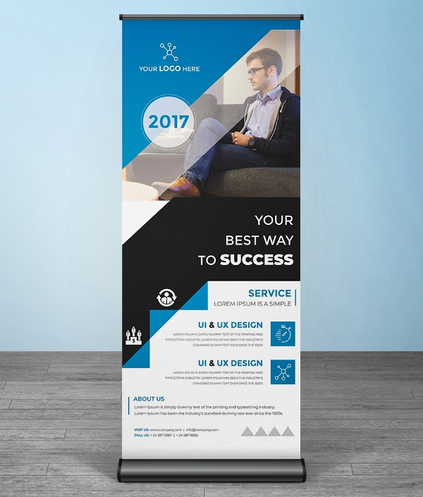 free multipurpose roll up banner template