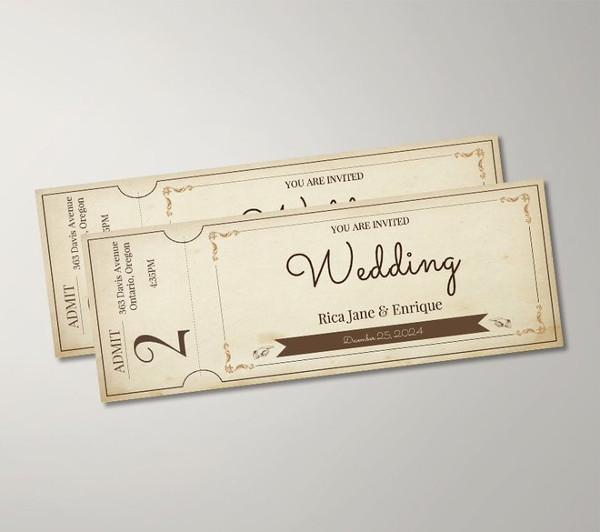 free vintage ticket template1
