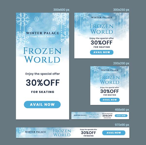 frozen banner template