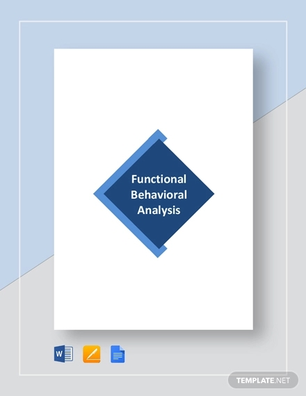 functional behavioral analysis example