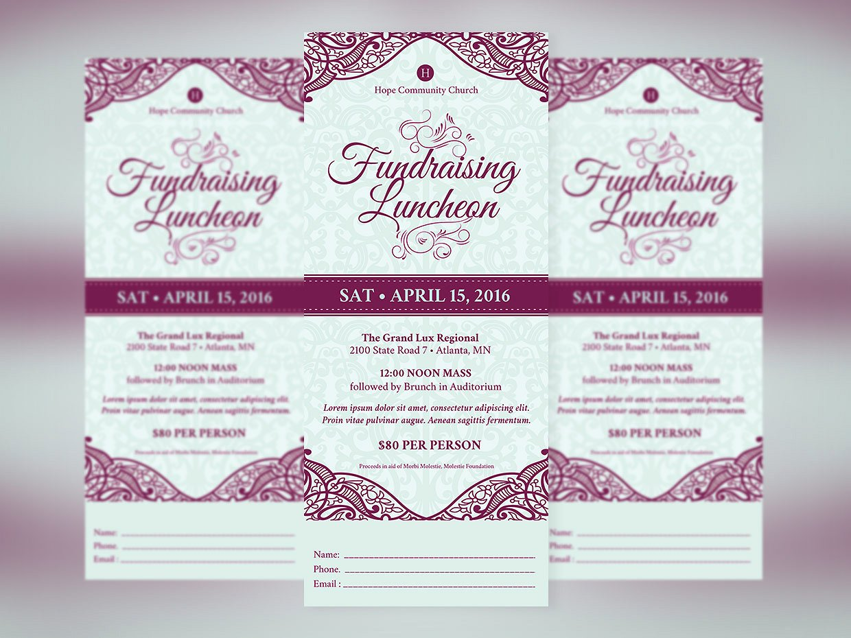 fundraising luncheon event ticket example