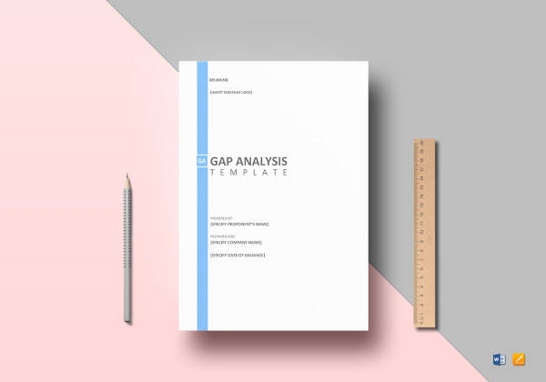 gap analysis template to print
