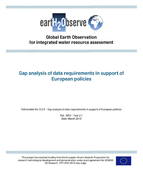 gap analysis of data requirements in support of european policies example