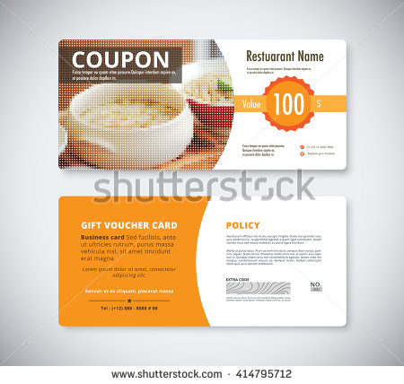 gift restaurant breakfast coupon example