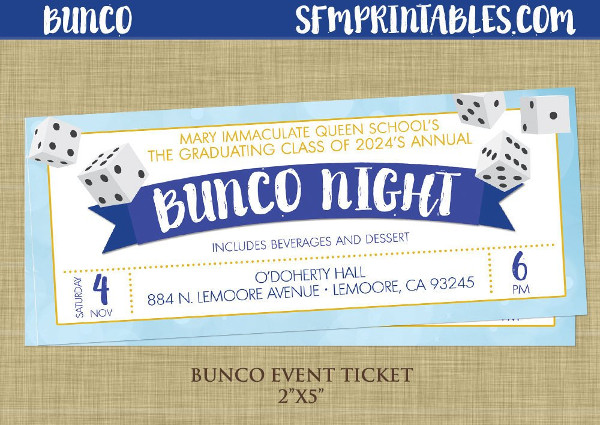girls night bunco ticket