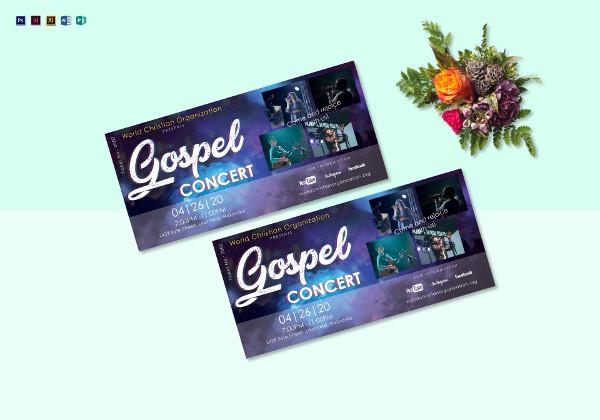 gospel concert ticket example1