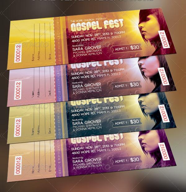 gospel fest concert ticket