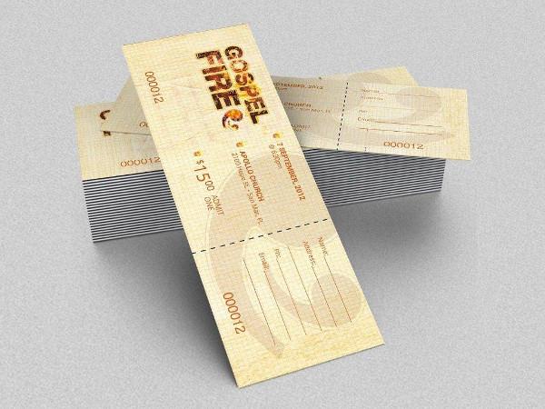 gospel fire concert ticket example1