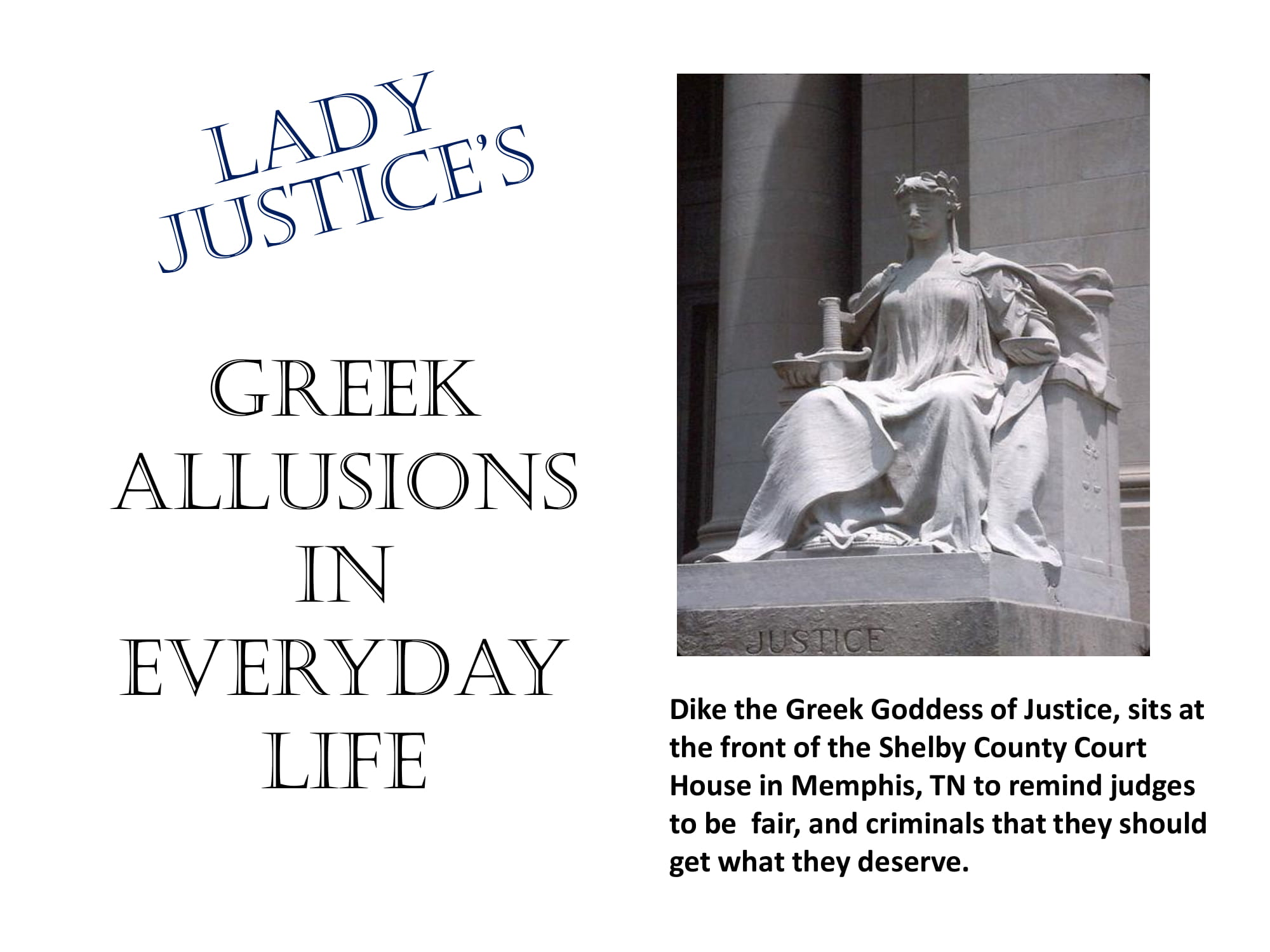greek allusions in everyday life example