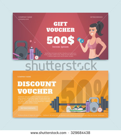 gym fitness gift coupon example