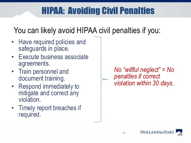hipaa avoiding civil penalties