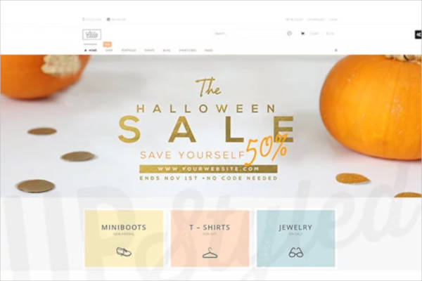 halloween sale banner example