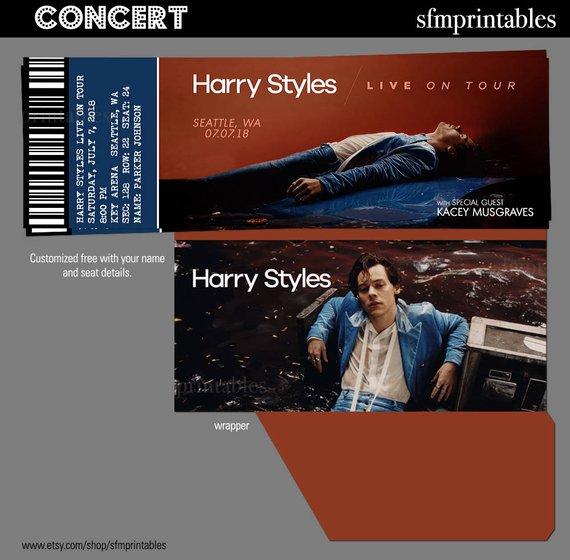 harry styles live concert ticket example