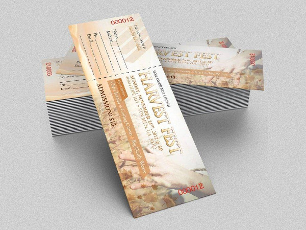 harvest festival gospel concert ticket example1