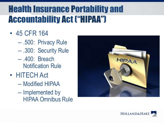 health insurance portability and accountability act or hipaa