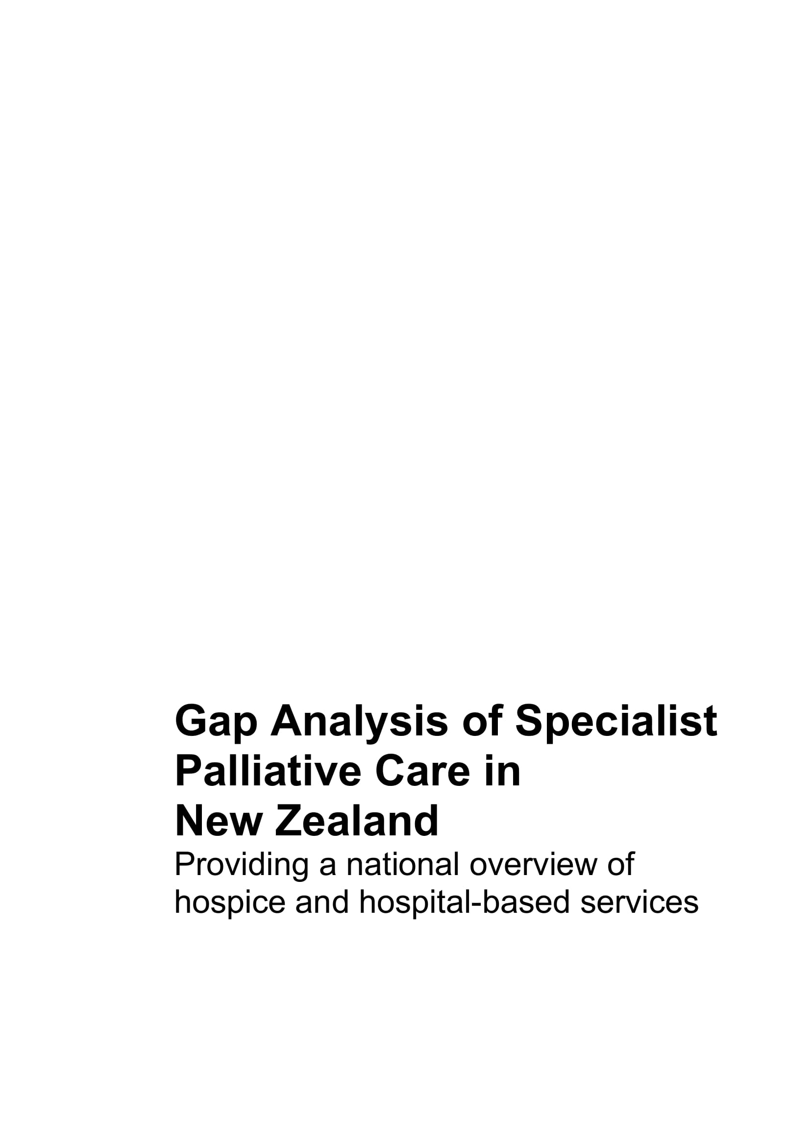 healthcare gap analysis of specialist palliative care in new zealand example 01