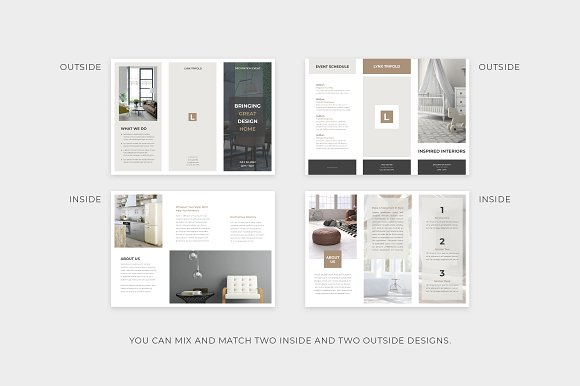 home decor trifold brochure example