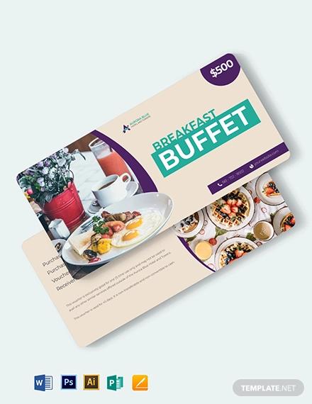hotel breakfast voucher template