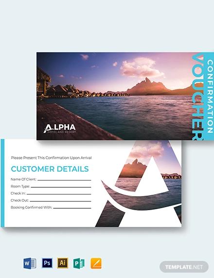 hotel confirmation voucher template