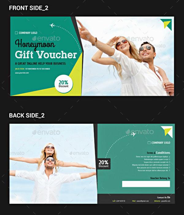 hotel honeymoon gift voucher example