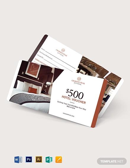 hotel promotion voucher template