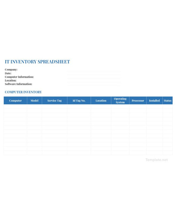 it inventory spreadsheet template