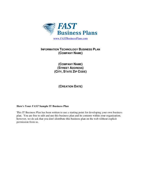 it startup business plan example1