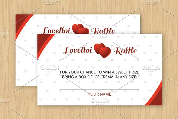 ice cream raffle ticket template example