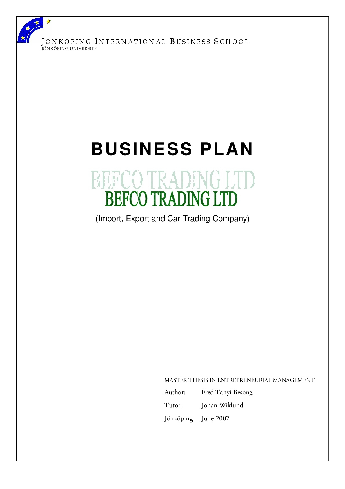 import export and car trading business plan 002