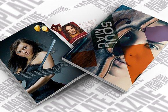 indesign luxury lifestyle magazine example