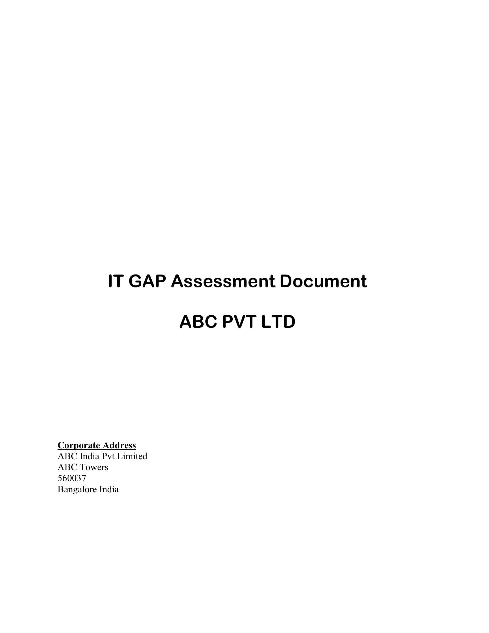 information technology gap assessment or analysis document example 01