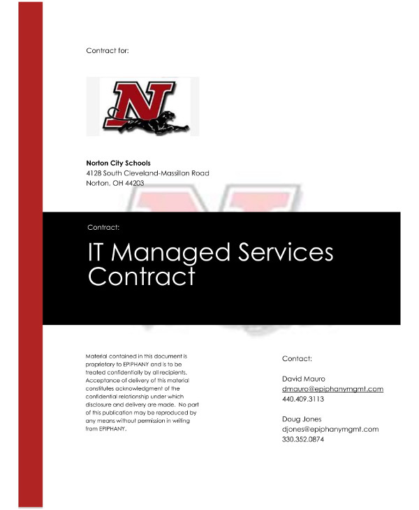 information technology managed services contract template example