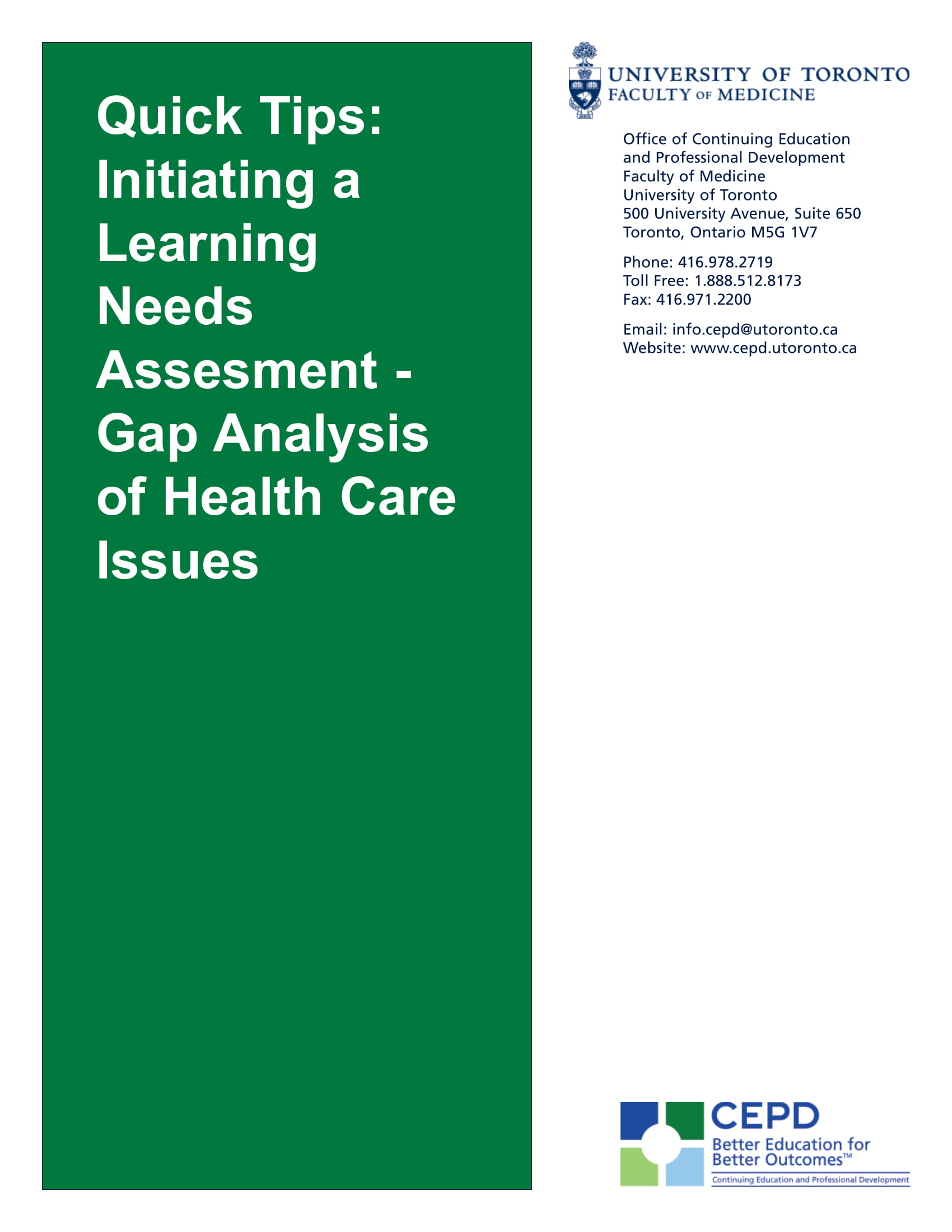 initiating a learning needs assessment gap analysis of health care issues tips and example 1