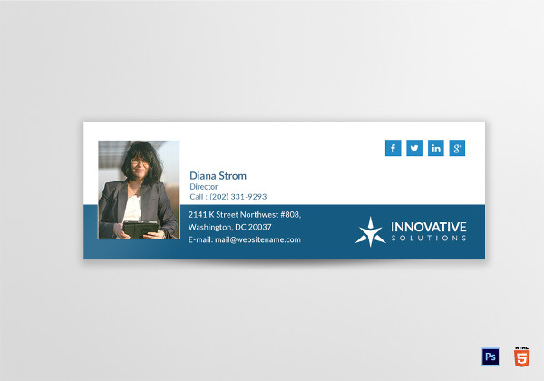 innovative email signature template