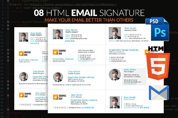 innovative html email signatures