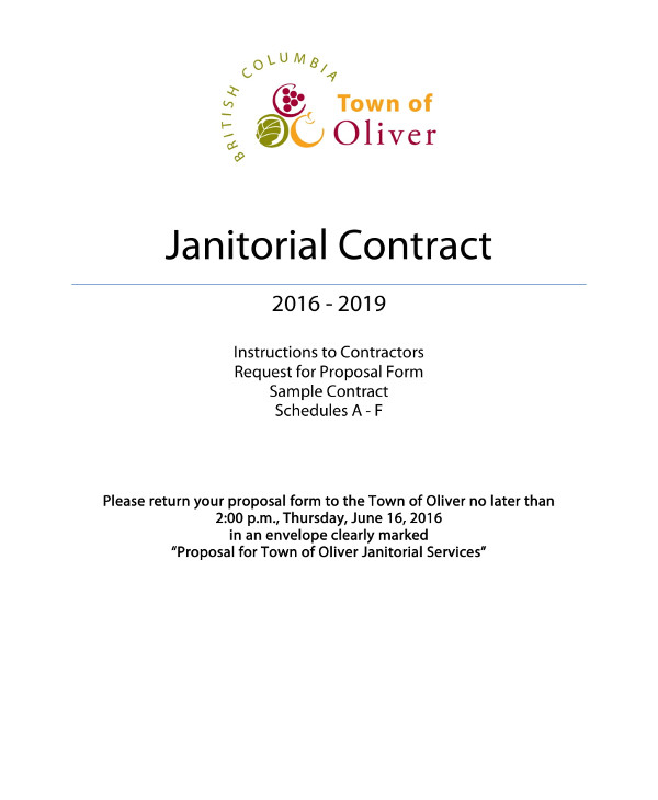 Janitorial Service Contract Layout Example