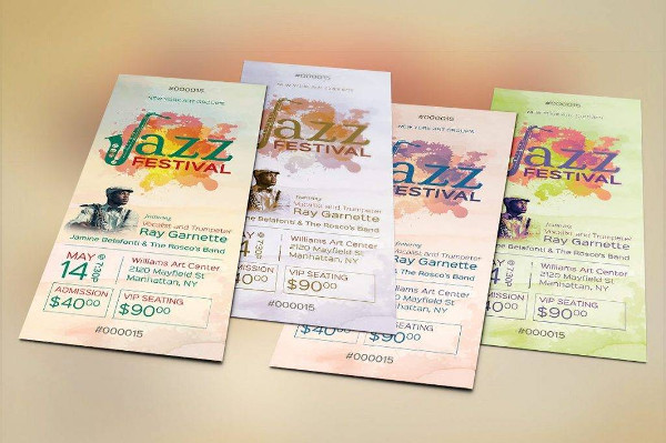 jazz festival concert ticket example1