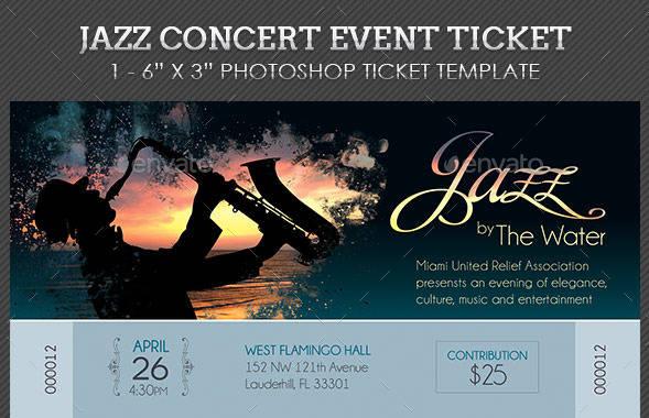 jazz live concert ticket example