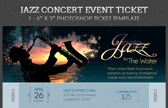 jazz live concert ticket example1