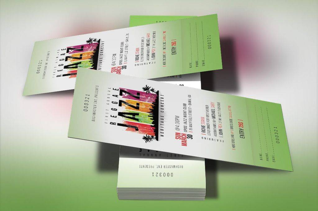 9 music concert event ticket examples psd ai indesign