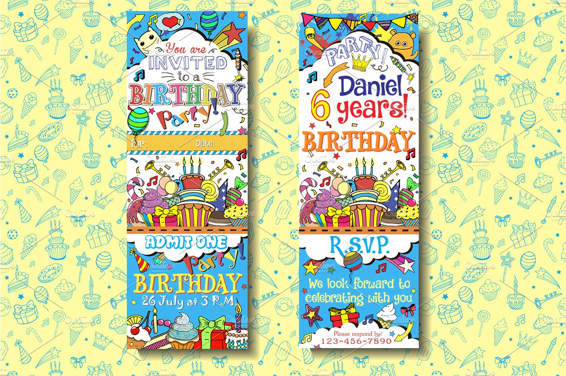kids birthday boarding pass invitation ticket example