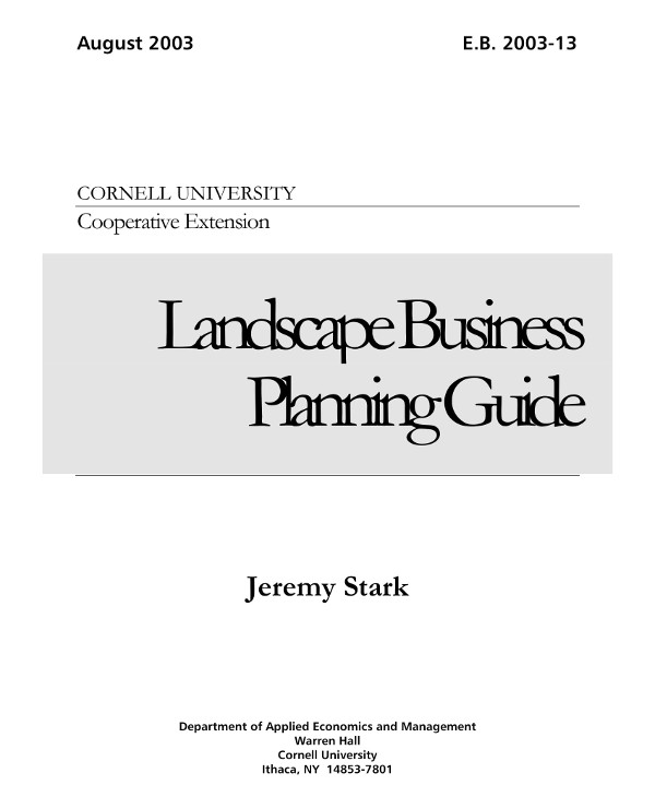 landscape with lawn care services specification business plan guide example