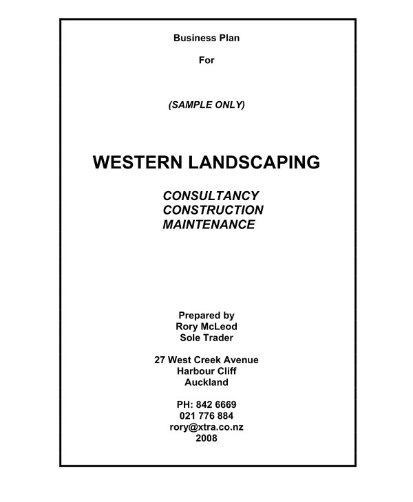 landscaping gardenscape construction lawn care and garden maintenance business plan example